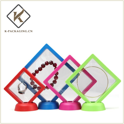 RED Color transparent suspension jewelry rack