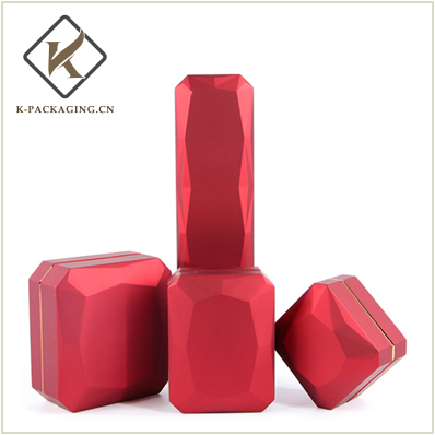 Rhombus rubber painting LED Ring box packaging