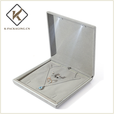 High quality microfiber leather jewellery box