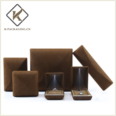 Coffee color High quality microfiber leather jewellery packaging