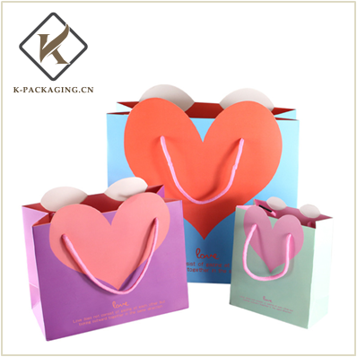 Heart shape gift bag