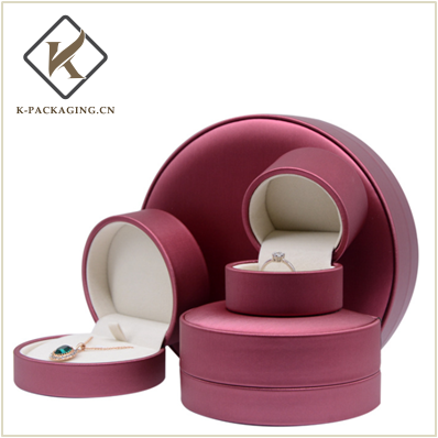 Half round Ring box with PU Leather
