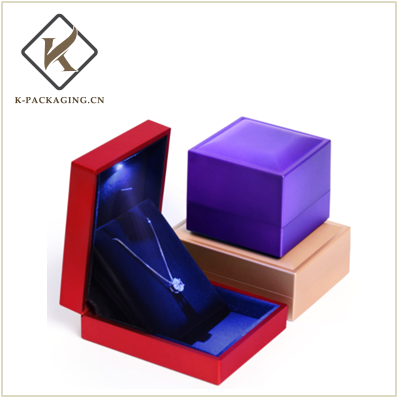 New Design Ring rubber painting LED Ring box